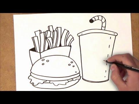 Como Dibujar Comida No Saludable Como Dibujar Comida No Saludable Paso A Paso