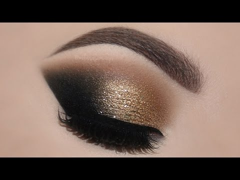 Gold Glam Cat Smokey Eyes & Perfect Skin Makeup Tutorial