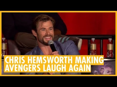 Chris Hemsworth Funniest Response - Avengers: Infinity War Press Conference Los Angeles