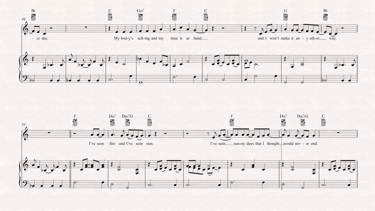 Ukulele fire and rain james taylor sheet music chords ukulele fire and rain james taylor sheet music chords vocals hexwebz Choice Image
