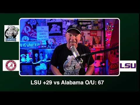 LSU vs Alabama 12/5/20 Free College Football Picks and Predictions CFB Tips