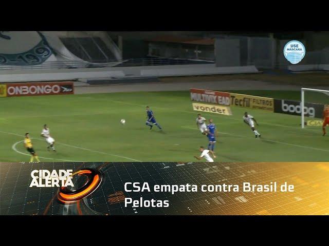 Futebol CSA empata contra Brasil de Pelotas