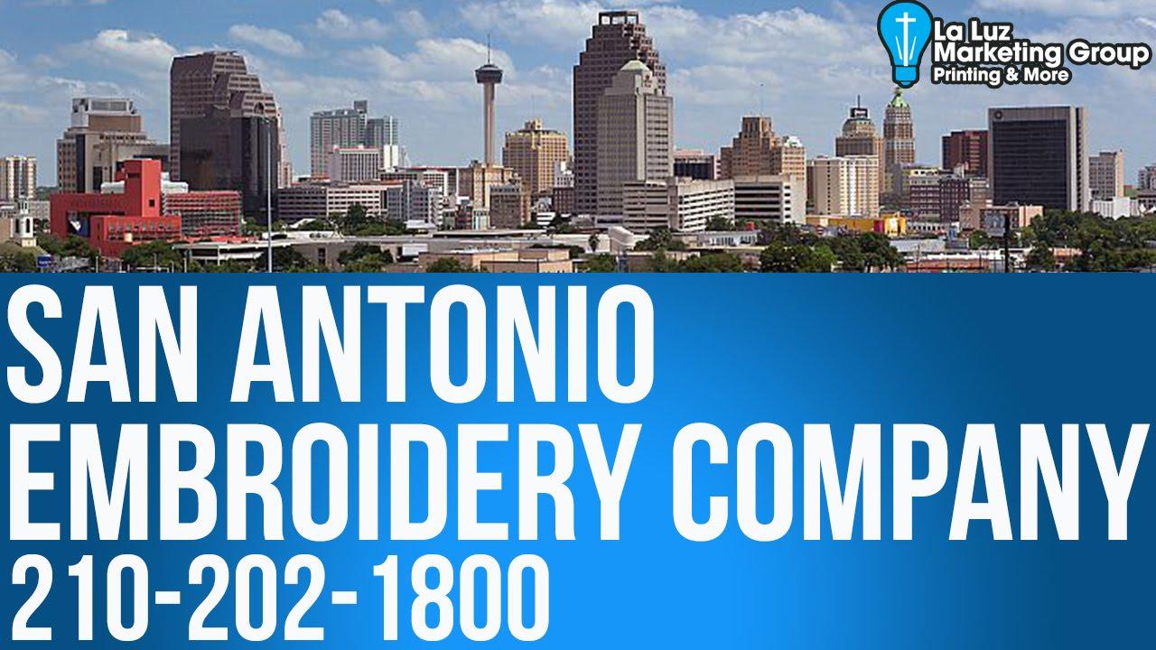 Embroidery San Antonio Tx 210 202 1800 La Luz Printing Services