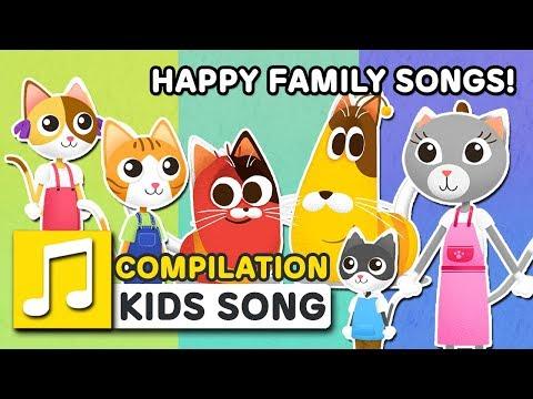 HAPPY FAMILY SONGS! | 15MIN | LARVA KIDS | FAMILY SONG | SUPER BEST SONGS FOR KIDS