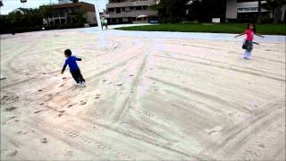 Kids Playing at the Catamaran Resort's Beach in San Diego, Filmed with Canon Mark II