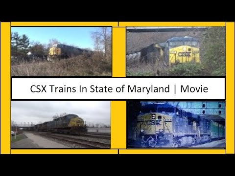 CSX Trains In State Of Maryland | Movie!