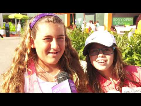 Nole's fans at the Sony Open Tennis