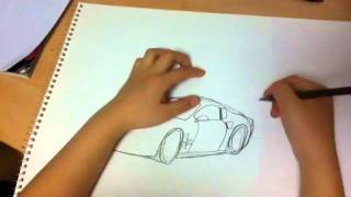 How to draw cool cars (Corvette ZR1) by Jin