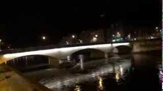 Grenoble de nuit à Noël