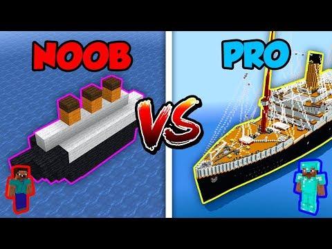 Minecraft NOOB Vs. PRO: TITANIC In Minecraft!