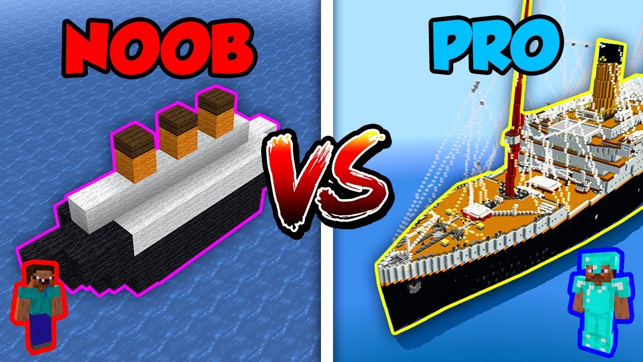Minecraft Noob Vs Pro Titanic In Minecraft Youtube