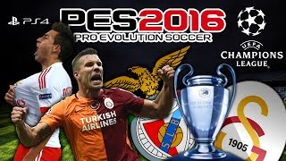 SL Benfica vs Galatasaray ★ UEFA CHAMPIONS LEAGUE ★ Group C | LIVE | PES 2016