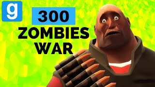 Garry's Mod EPIC Funny War with 300 ZOMBIES    THIS IS HILARIOUS (Gmod)