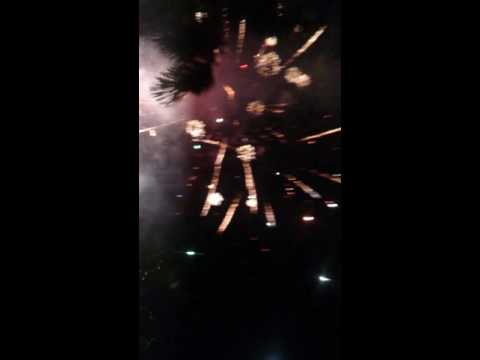 Fire works in Jesus is lord Church In Manila