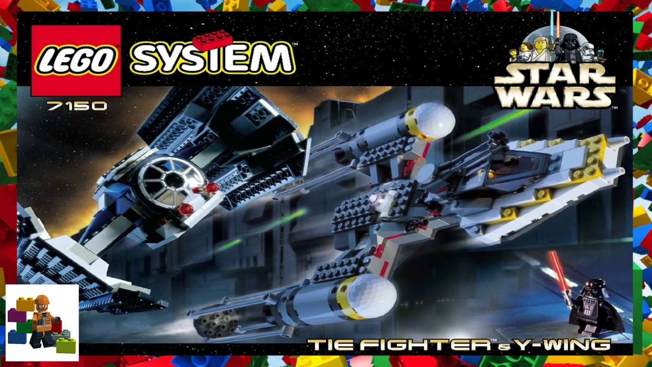 Lego Instructions Star Wars 7150 Tie Fighter Y Wing Youtube