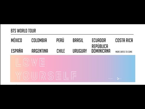 Bts 2020 Tour Dates.Bts Latinoamerica Tour Love Yourself 2019 Youtube