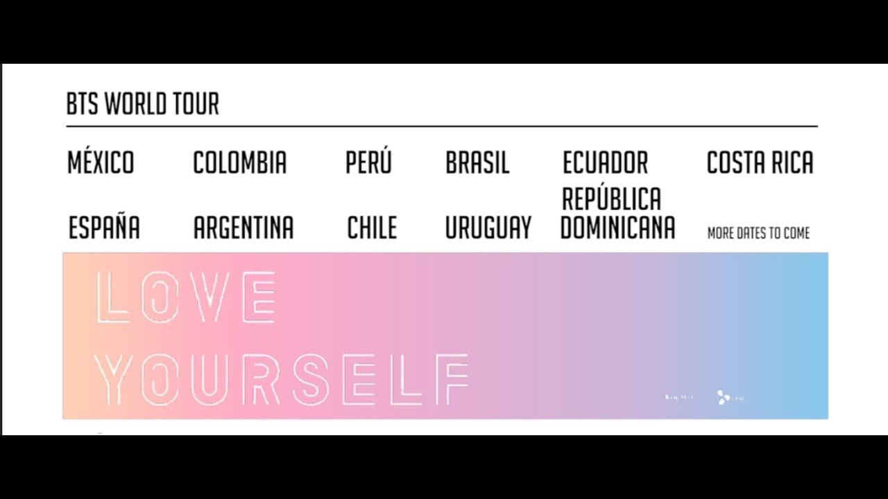 Bts Latinoamerica Tour Love Yourself 2019 Youtube