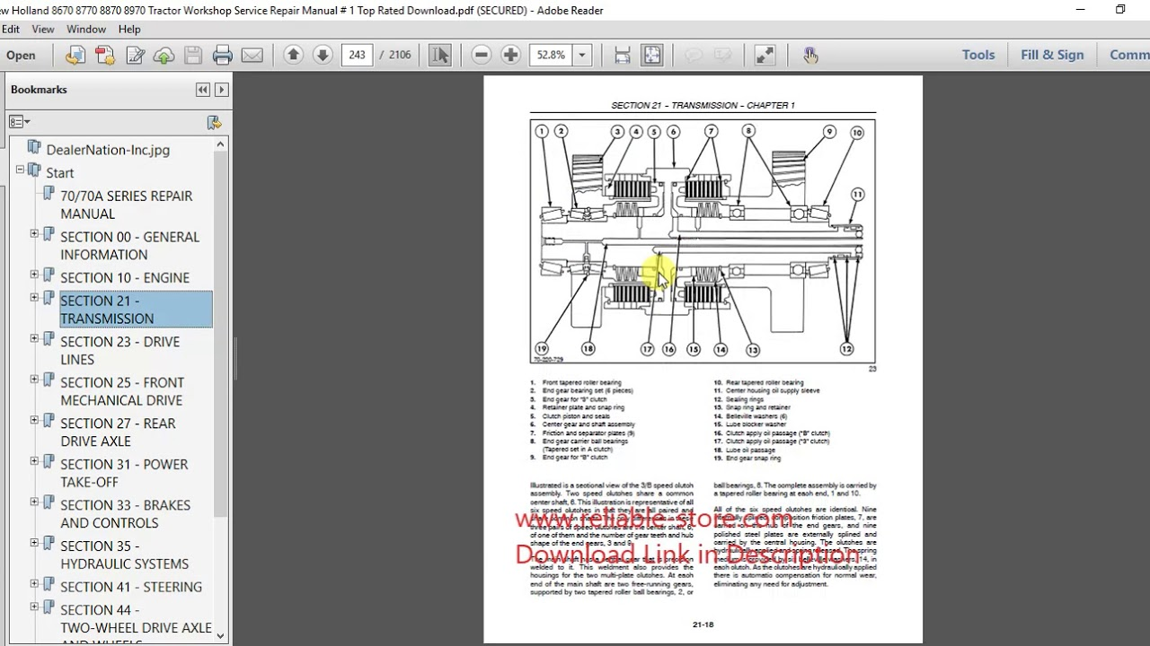 New Holland Workshop Service Repair Manual Download on