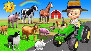 Old MacDonald Song - Baby Drive Tractor Songs for Kids + More Nursery Rhymes for Babies Children