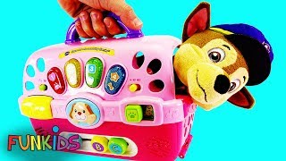 Paw Patrol Chase in New Dog Carrier Playset