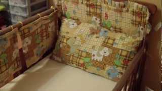 (ч.2) Как сшить бортики в кроватку ребенку(Бортики можно купить в магазине, цена будет такая же,как и шить самой. Но самой приятнее что-то сделать для..., 2012-10-31T05:56:06.000Z)