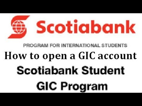 How To Open A GIC Account In Scotia Bank  | Tutorial Video | GIC