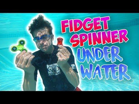 UNDERWATER FIDGET SPINNER! | SPINNER VS POOL