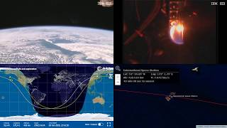 Fire Experiments Over Asian Coastlines - NASA/ESA ISS LIVE Space Station With Map - 496 - 2019-02-20
