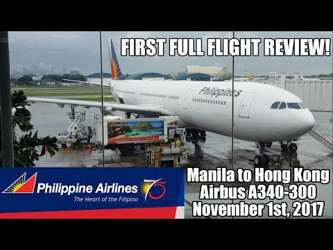 Philippine Airlines Airbus A340-300 Flight Review: PR 318 Manila to Hong Kong