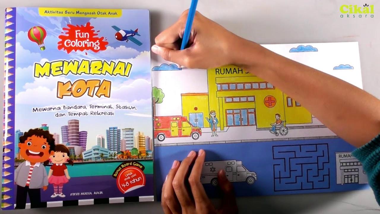 Mewarnai Rumah Sakit Dan Kota Dengan Pensil Warna