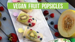 Vegan Popsicles | Under 3 ingredients / 5 minutes prep time!