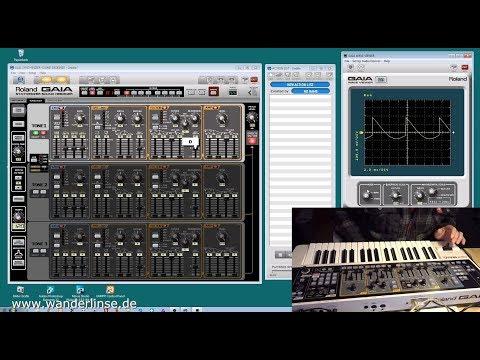 Roland GAIA SH-01 Sound Designer Funktionstest Deutsch