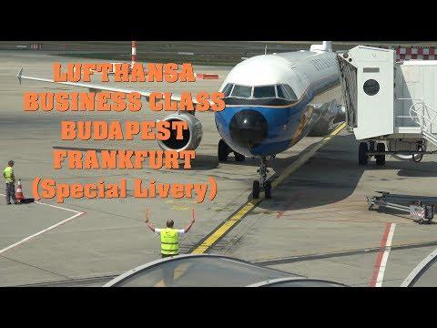 Lufthansa Business Class Budapest - Frankfurt A321 Special Retro Livery : 4K