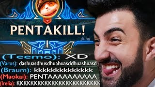 DEI PENTA KILL MORTO DE TEEMO JUNGLE 100% CRIT! *COM MENOS 1 NO TIME* - RodiL