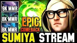 Sumiya 73k Damage Unreal Comeback In Top Rank Game | Sumiya Invoker Stream Momen