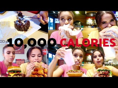 10,000 CALORIES CHALLENGE! 🍕EPIC CHEAT MEAL🍔 | MUKBANG