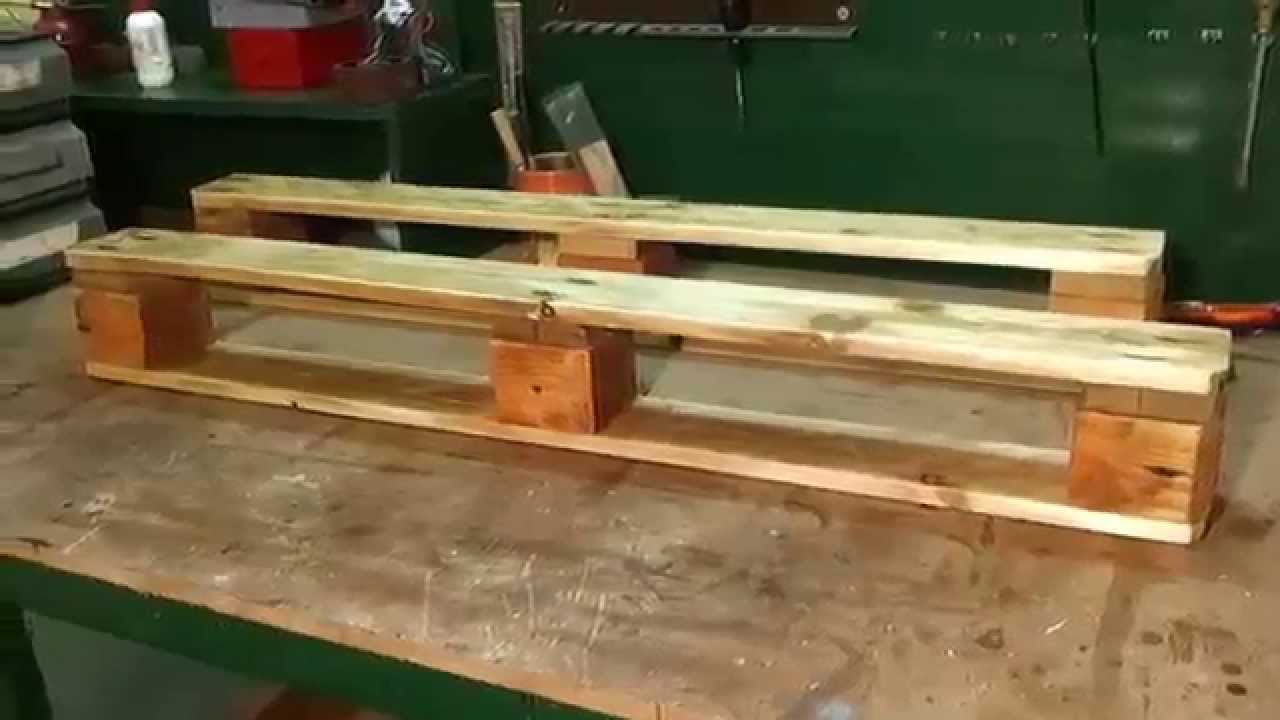 how to make a simple pallet shelf youtube