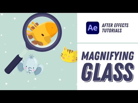 Magnifying Glass Animation - After Effects Tutorial #15