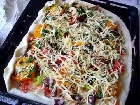 Рецепт приготовления мясной пиццы по домашнему.flv