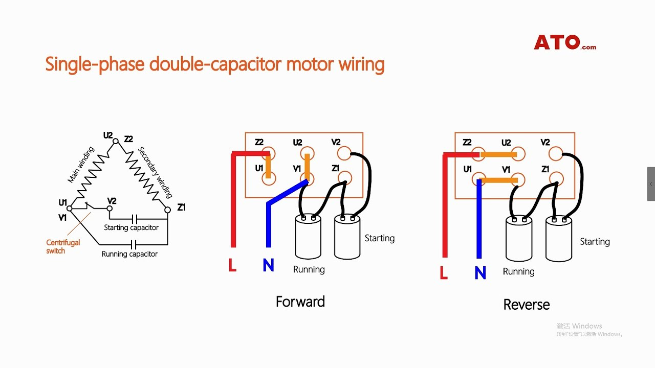 single phase motor forward and reverse wiring