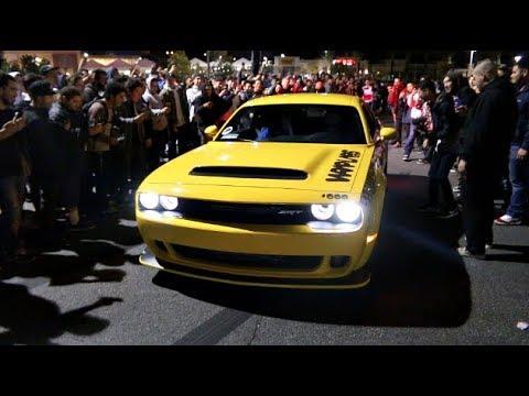 2018 Dodge Demon >> Dodge Demon Taxi SHUTS DOWN The Car Meet! - YouTube