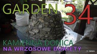 GARDEN DESIGN (34) Kamienny pojemnik na wrzosowe bukiety