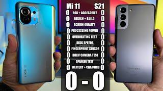 Xiaomi Mi 11 vs Samsung S21 - EXTREME Comparison! - Head to Head Flagship Battle! Who Wins?
