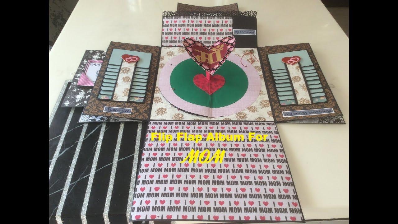 Handmade Gift Ideas For Mom Flip Flap Album For Mom Mothers Day