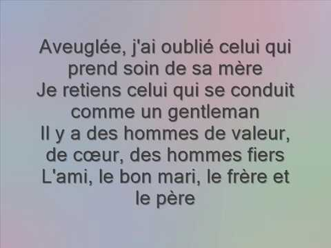 Chilla- Si j'étais un homme Paroles Lyrics