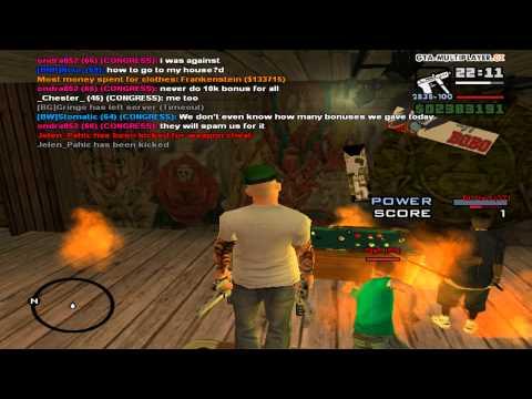 gta samp part 13 : me play in my Flamethrower pool in fire :)