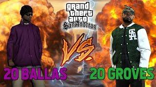 20 BALLAS VS 20 GROVES - GTA SAN'DA BÜYÜK KAPIŞMA !