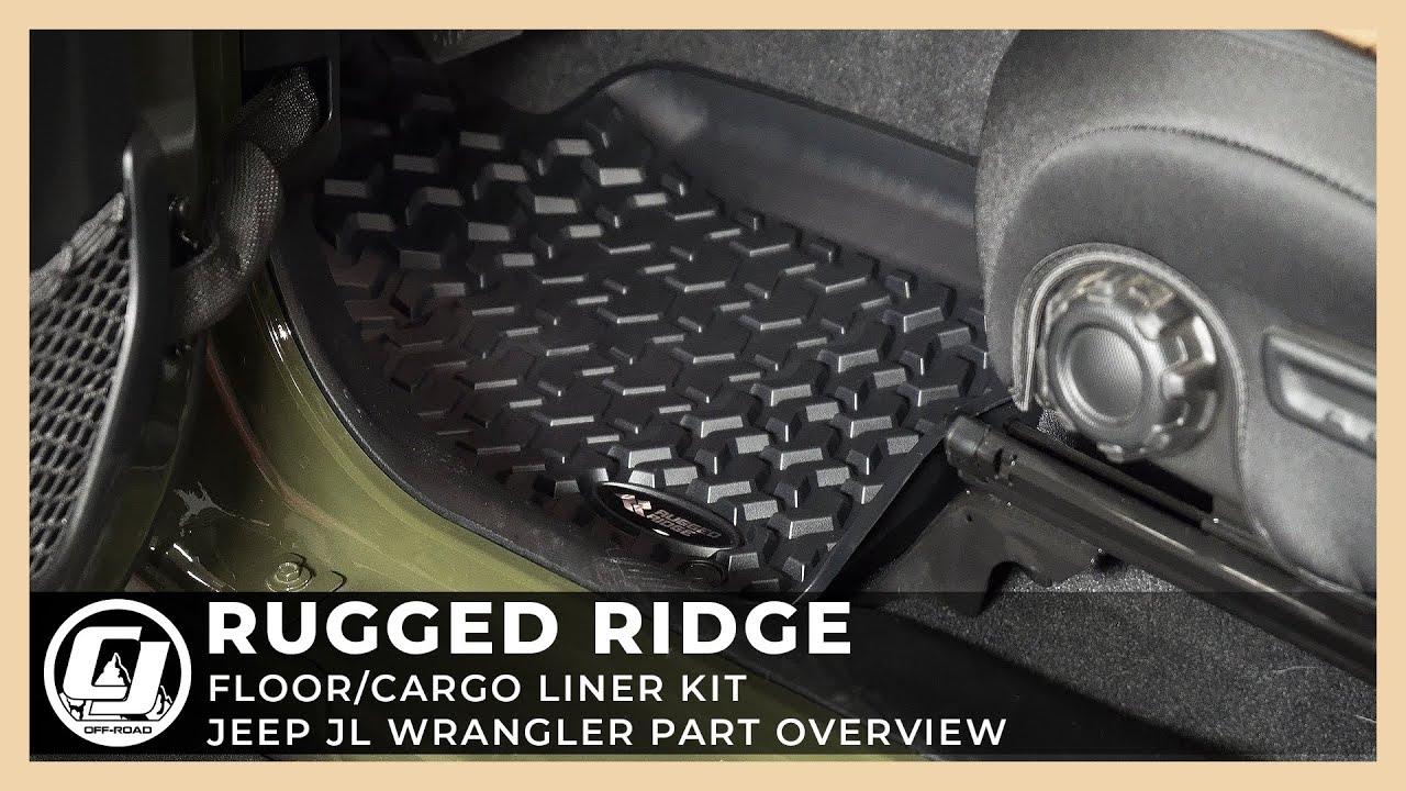 2018-2021 Jeep Wrangler JL Part Overview | Rugged Ridge Floor & Cargo Liner Kit