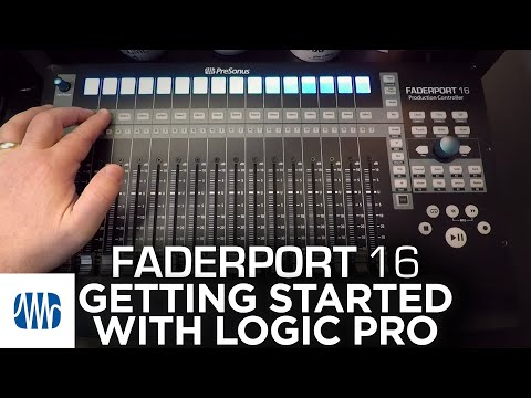 Presonus–Getting Started with FaderPort 16 and Logic Pro
