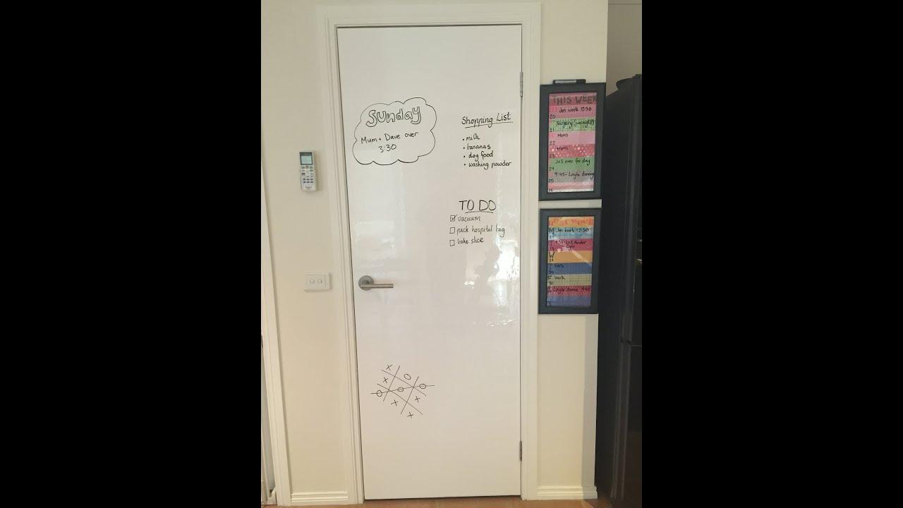 DIY whiteboard cupboard door - YouTube